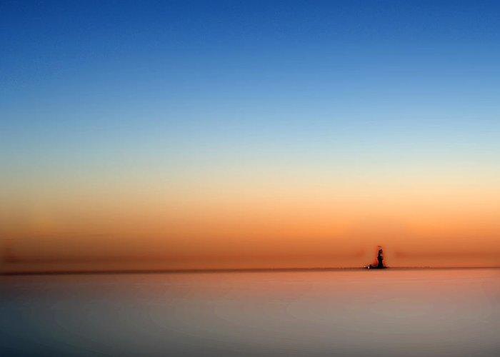 Lakeerie Greeting Card featuring the photograph Lake Eriesundown Smooth by Randall Branham