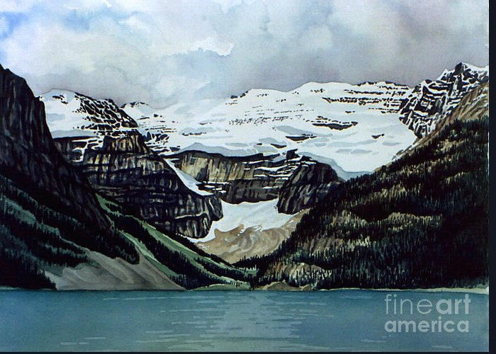 Lake Louise Greeting Card featuring the painting Lake Louise by Scott Nelson