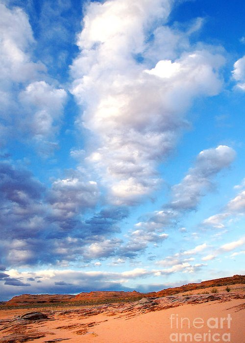 Lake Powell Greeting Card featuring the photograph Lake Powell Clouds by Thomas R Fletcher