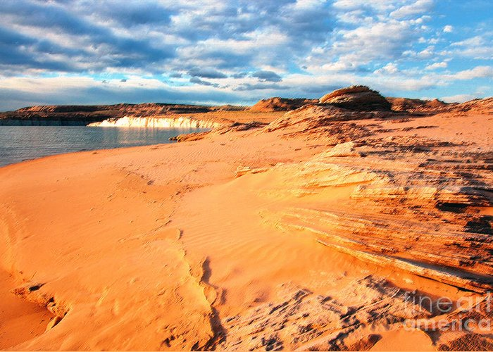 Lake Powell Greeting Card featuring the photograph Lake Powell Serenity by Thomas R Fletcher