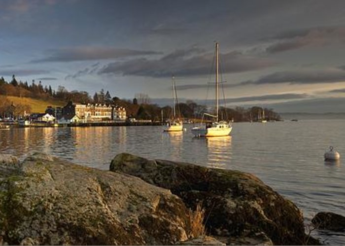Boat Greeting Card featuring the photograph Lake Windermere Ambleside, Cumbria by John Short