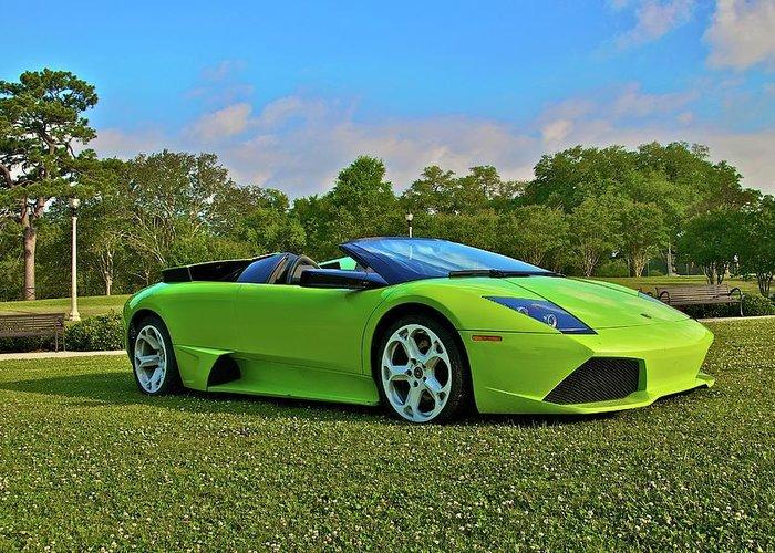 Lamborghini Murcielago Convertible Greeting Card For Sale By Mike Capone