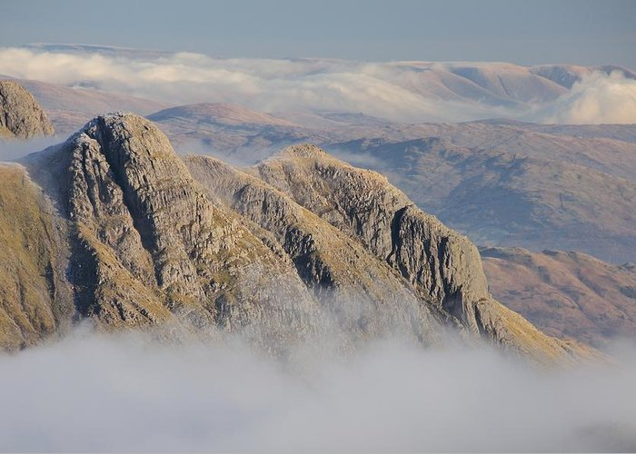 Langdale Greeting Card featuring the photograph Langdale Pikes by Stewart Smith