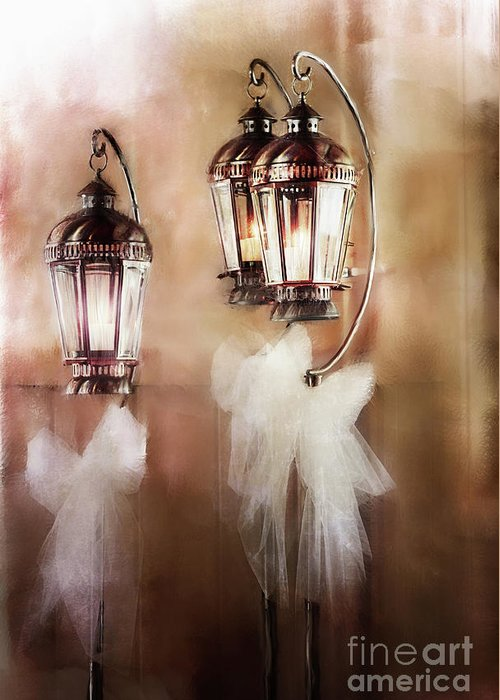 Lanterns Greeting Card featuring the photograph Lanterns by Stephanie Frey