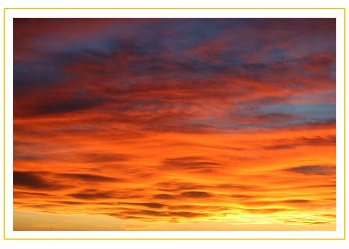 Framed Prints Of Sunsets. Framed Prints And Note Cards Of Western Sunsets. Framed Prints Of Bright Orange Sunsets. Greeting Card featuring the photograph Las Cruces Sunset by Jack Pumphrey
