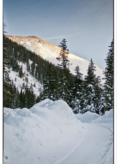 Mountain Greeting Card featuring the photograph Last Glance At The Mountain by Lisa Spencer