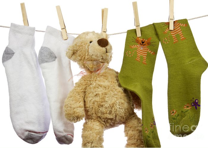 Socks Greeting Card featuring the photograph Laundry by Blink Images