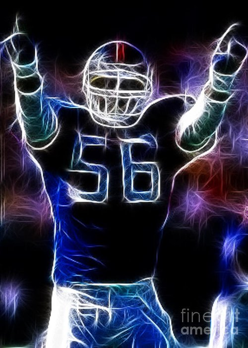 Lawrence Taylor Greeting Card featuring the photograph Lawrence Taylor by Paul Ward