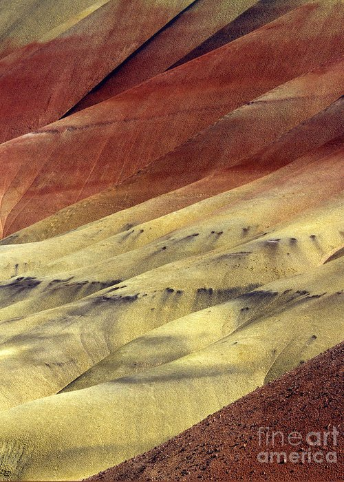 Painted Hills Greeting Card featuring the photograph Layers Of Red by Mike Dawson