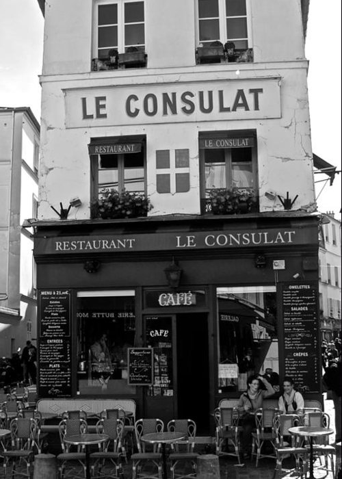 Le Consulat Greeting Card featuring the photograph Le Consulat by Eric Tressler