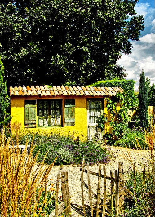 Garden Greeting Card featuring the photograph Le Jardin De Vincent by Chris Thaxter