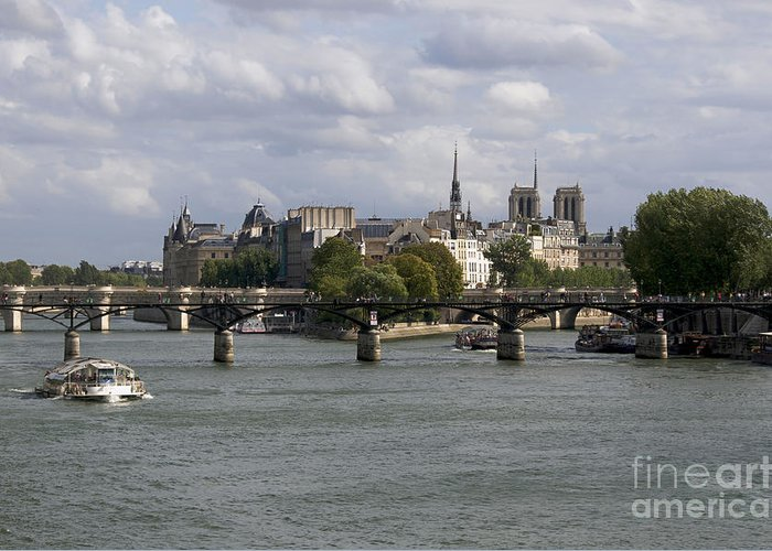 Paris Greeting Card featuring the photograph Le Pont Des Arts. Paris. France by Bernard Jaubert