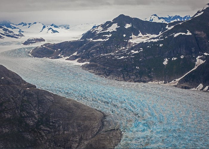 Frederick Sound Greeting Card featuring the photograph Leconte Glacial Flow by Mike Reid