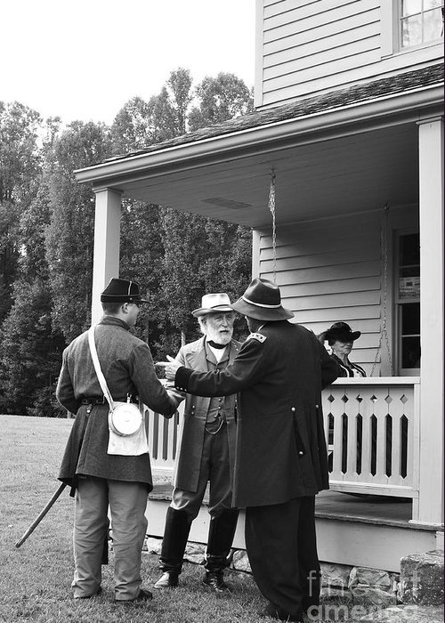 General Lee Greeting Card featuring the photograph Lee And Grant by Thomas R Fletcher
