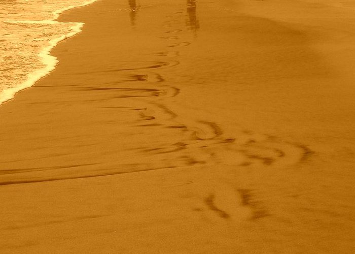 Sand Greeting Card featuring the photograph Left Behind by Darren Gomez