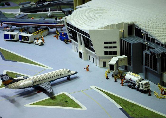 Legoland Greeting Card featuring the photograph Legoland Dallas IIi by Ricky Barnard