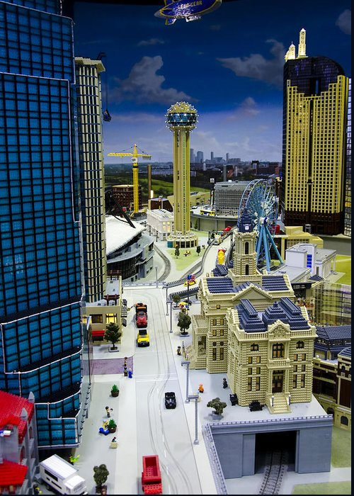 Legoland Greeting Card featuring the photograph Legoland Dallas Iv by Ricky Barnard