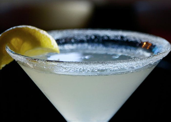 Martini Greeting Card featuring the photograph Lemon Drop by Lori Leigh