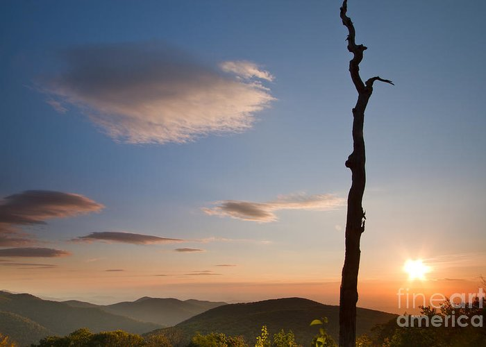 Lenticular Clouds Greeting Card featuring the photograph Lenticular Clouds Over Shenandoah National Park by Dustin K Ryan