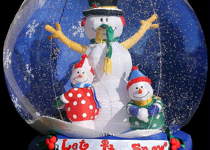 Weird Greeting Card featuring the photograph Let It Snow by Christine Till