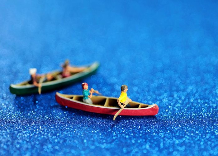 Surreal Greeting Card featuring the photograph Let's Boating Together by Paul Ge