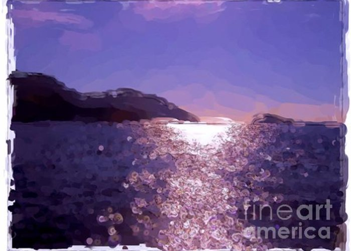 Landscapes Greeting Card featuring the painting Levant's Island - France by Franck Guarinos