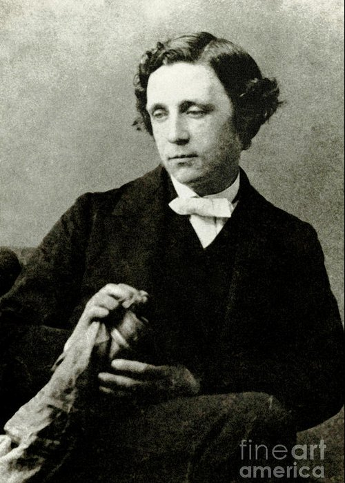 Alice In Wonderland Greeting Card featuring the photograph Lewis Carroll, English Author by Photo Researchers