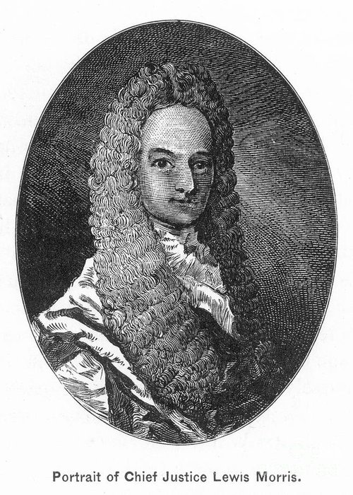 18th Century Greeting Card featuring the photograph Lewis Morris (1671-1746) by Granger