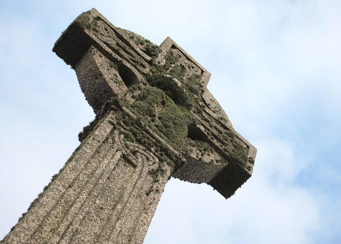 Cross Greeting Card featuring the photograph Lichen Cross by Christopher Mercer