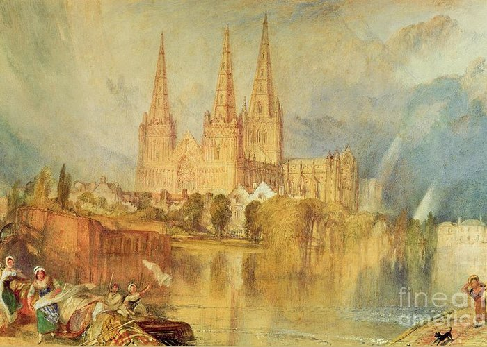 Lichfield Greeting Card featuring the painting Lichfield by Joseph Mallord William Turner