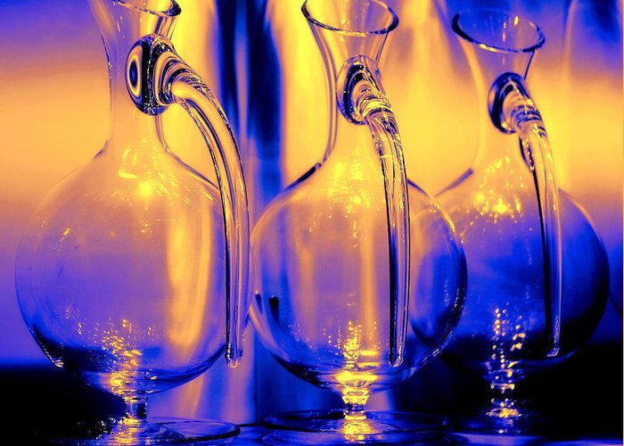 Vase Greeting Card featuring the photograph Light And Colors Play I by Jenny Rainbow