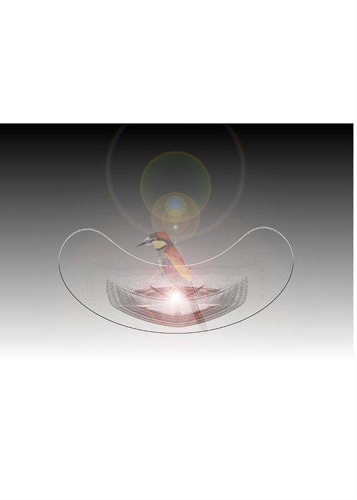 Bird Light Glass Greeting Card featuring the digital art Light And Glass by Kleber Renato