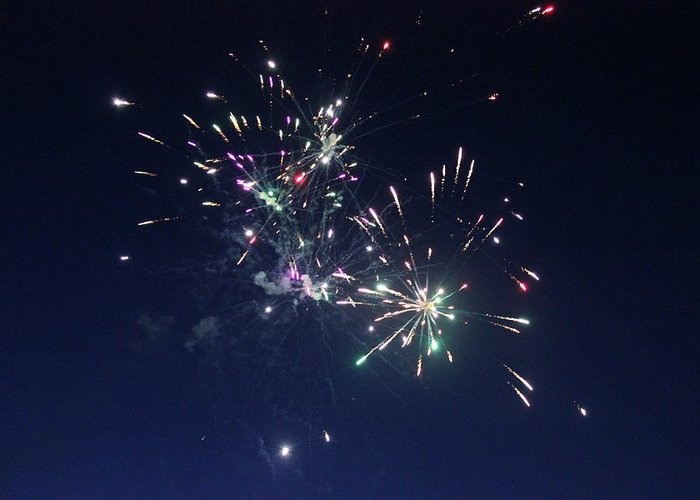Fireworks Greeting Card featuring the photograph Light Up My World by Ashley Beeman