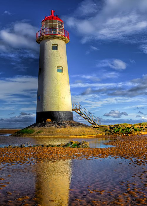 Beach Greeting Card featuring the photograph Lighthouse by Adrian Evans
