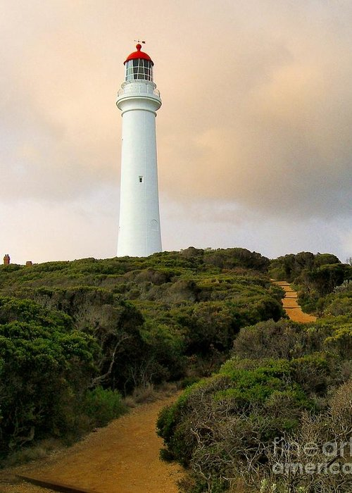 Split Point Light Station Greeting Card featuring the photograph Lighthouse Path by Laurisa Rabins