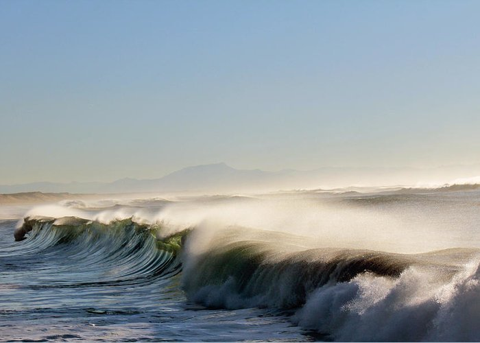Waves Greeting Card featuring the photograph Like Wild Horses by Cedric Darrigrand