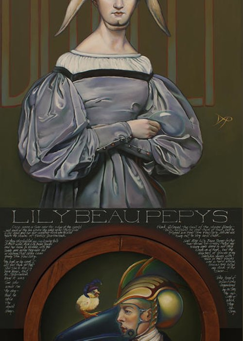 Sheep Greeting Card featuring the painting Lily Beau Pepys by Patrick Anthony Pierson