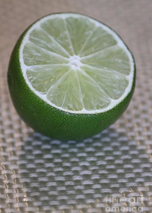 Lime Greeting Card featuring the photograph Lime Light by Terri Thompson