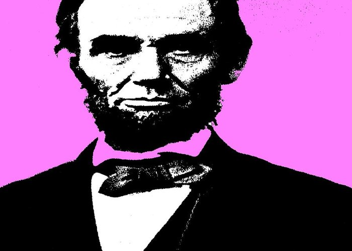 Lincoln Greeting Card featuring the digital art Lincoln by George Pedro