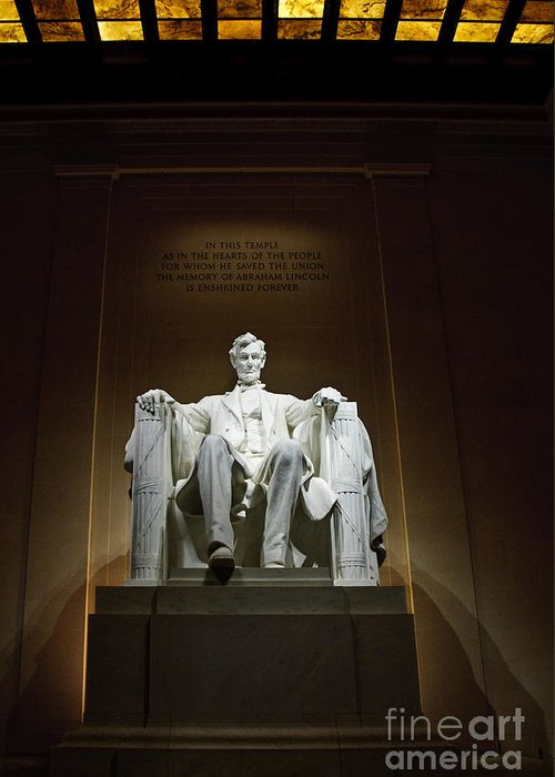 Service Greeting Card featuring the photograph Lincoln by Jim Chamberlain