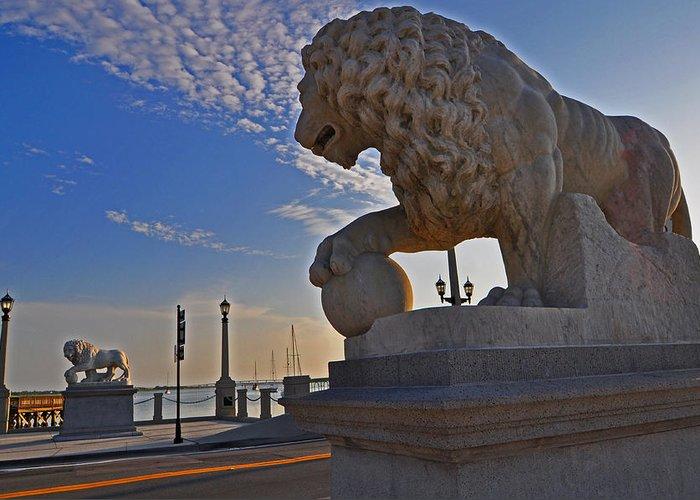 Lions Gate Bridge Greeting Card featuring the photograph Lions Gate Bridge by Peter McIntosh