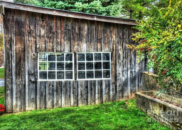 Shed Greeting Card featuring the photograph Little Brown Shed by Debbi Granruth