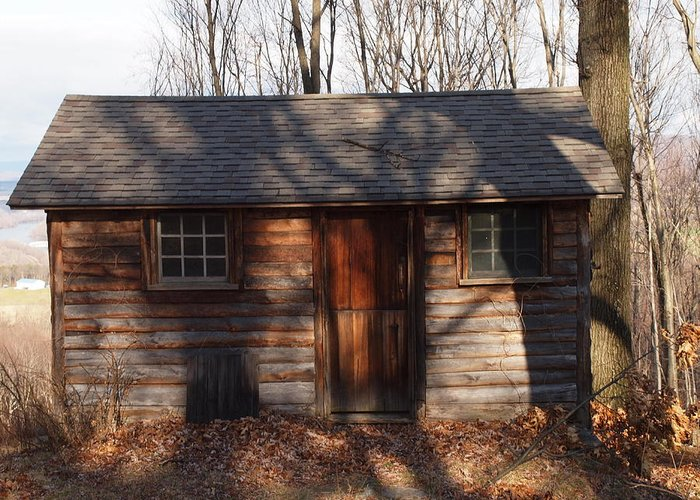 Farm Photographs Greeting Card featuring the photograph Little Cabin In The Woods by Robert Margetts
