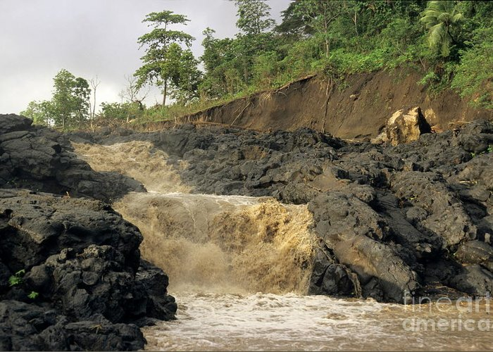 Vanuatu Greeting Card featuring the photograph Little Falls by Sami Sarkis