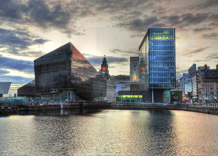 I'm Asking All My Friends To Please Get Out And Vote On November 8th For Phil Bryant Greeting Card featuring the digital art Liverpool After Dark by Barry R Jones Jr