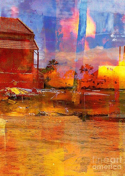 Fania Simon Greeting Card featuring the digital art Living Abroad Is A Trip by Fania Simon