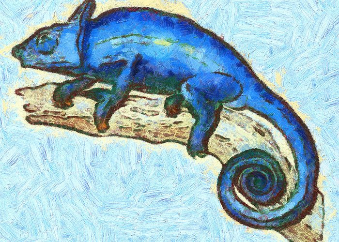Lizards Greeting Card featuring the mixed media Lizzie Loved Lizards by Nikki Marie Smith