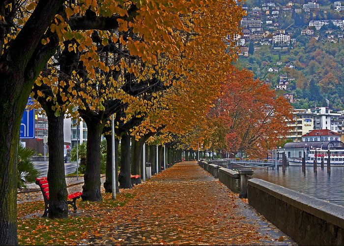 Travel Greeting Card featuring the photograph Locarno In Autumn by Joana Kruse