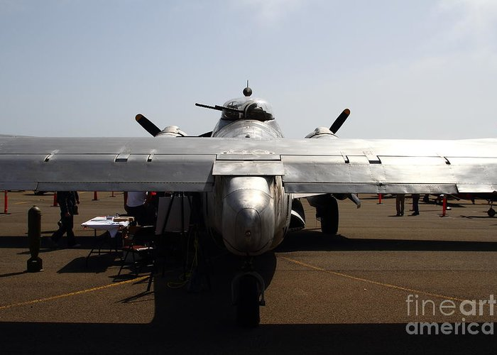 Transportation Greeting Card featuring the photograph Lockheed Pv-2 Harpoon Military Aircraft . 7d15814 by Wingsdomain Art and Photography
