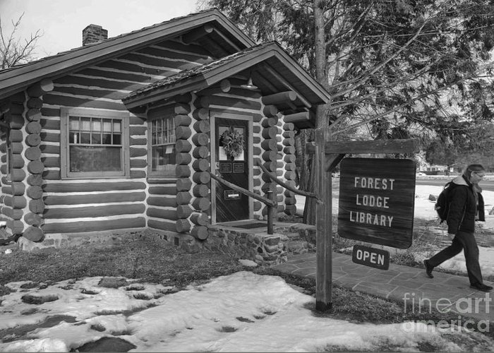 Library Greeting Card featuring the photograph Log Cabin Library 11 by Jim Wright
